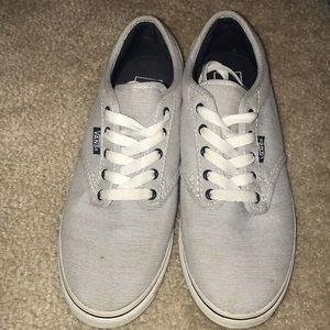Navy and White Vans size 7